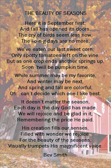 THE BEAUTY OF SEASONS